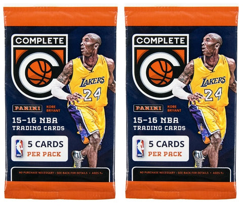 2015-16 Panini Complete Basketball Pack-New Sealed-5 Cards Per Pack-2 Packs