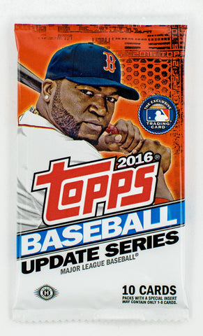 1 Pack - 2016 Topps Baseball-Update Series-Unopened Sealed-10 Cards Per Pack-Hobby