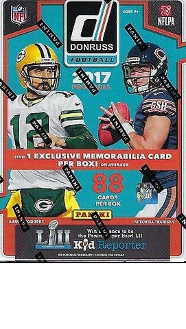 2017 Donruss Panini Football - Sealed Box - 1 Memorabilia Card Per Box