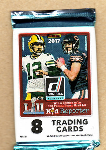 2017 Donruss Panini Football - Unopened Sealed Pack - 8 Cards Per Pack