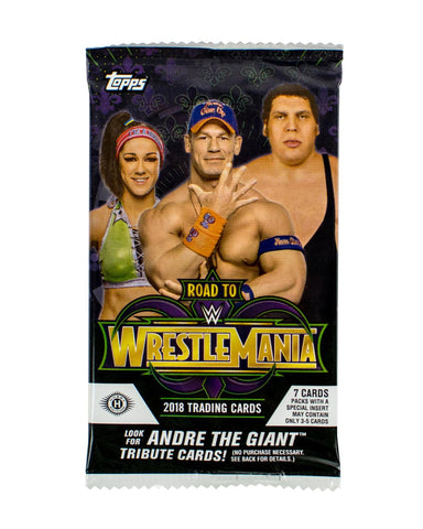 1 Pack - 2018 Topps WWE Road To Wrestlemania