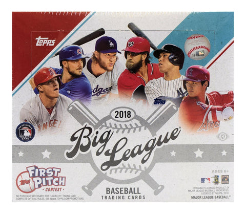 1 Box - 2018 Topps Big League Baseball-Unopened Sealed-24 Packs Per Box-Hobby