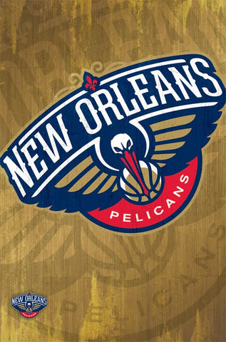 New Orleans Pelicans - Logo Wall Poster