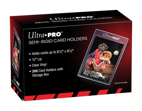 Ultra Pro - Semi-Rigid Card Holders (200 Per Box)