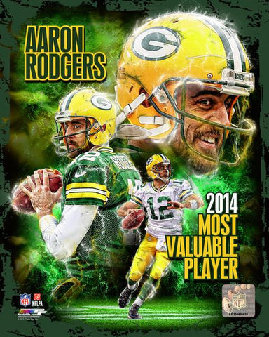 Aaron Rodgers - Photo 8 x 10 Glossy Portrait NFL Licensed New In Plastic Packers