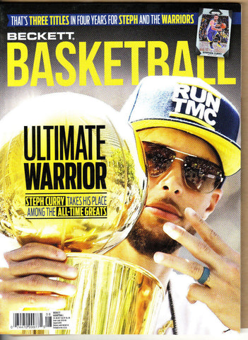 Beckett Basketball Price Guide-August 2018-Steph Curry-Cover-311-Paperback-29-8