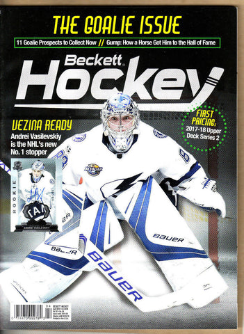 Beckett Hockey Price Guide-April 2018-Vasilevskiy Cover-308-Paperback-V 30-4