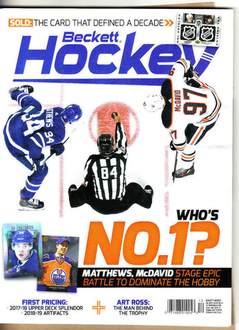 Beckett Hockey Price Guide-December 2018-McDavid Cover-#316-Paperback-V 30-12