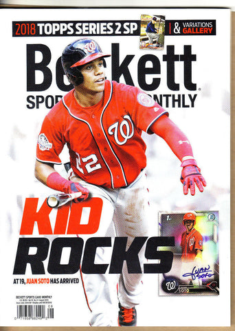 BECKETT MONTHLY PRICE GUIDE-AUGUST 2018-WWE-UFC-NBA-MLB-NFL-#401-JUAN SOTO