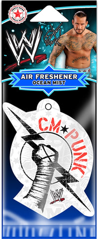 WWE - Air Freshener - CM Punk-Bolt Logo-WWE-Licensed New In Pack-Sealed