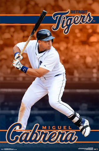 Miguel Cabrera - Poster - Tigers MLB Rolled Official Licensed