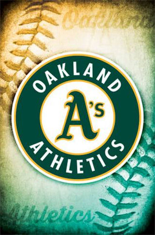 Poster - Oakland A's Logo - Rolled Official MLB Licensed
