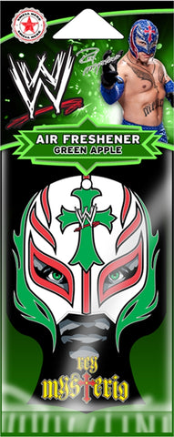 WWE - Air Freshener - Rey Mysterio-Cross -WWE-Licensed New In Pack-Sealed
