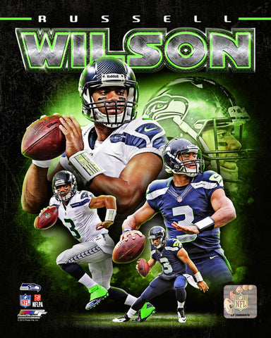 Russell Wilson - Photo 8 x 10 Glossy Portrait NFL Licensed New Seahawks
