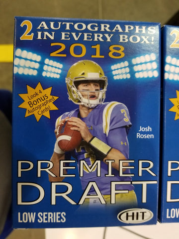 2018 SAGE HIT Football-Unopened Sealed Box-2 Autograph Cards Per Box