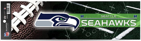 Sticker - Bumper - Seattle Seahawks 11 x 3 Inches NFL - Licensed New