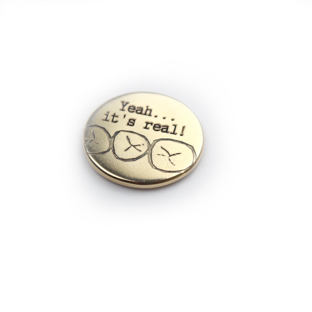 14k Gold Ball Marker - Teeth Marks