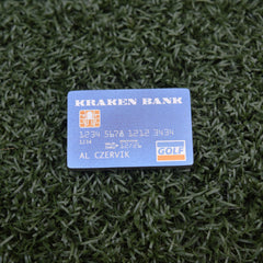 Kraken Bank Card Ball Marker - Titanium