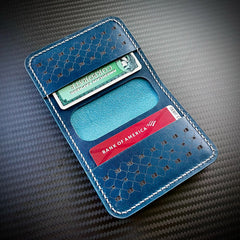 Robert Leather Wallet - Blue Calf Skin