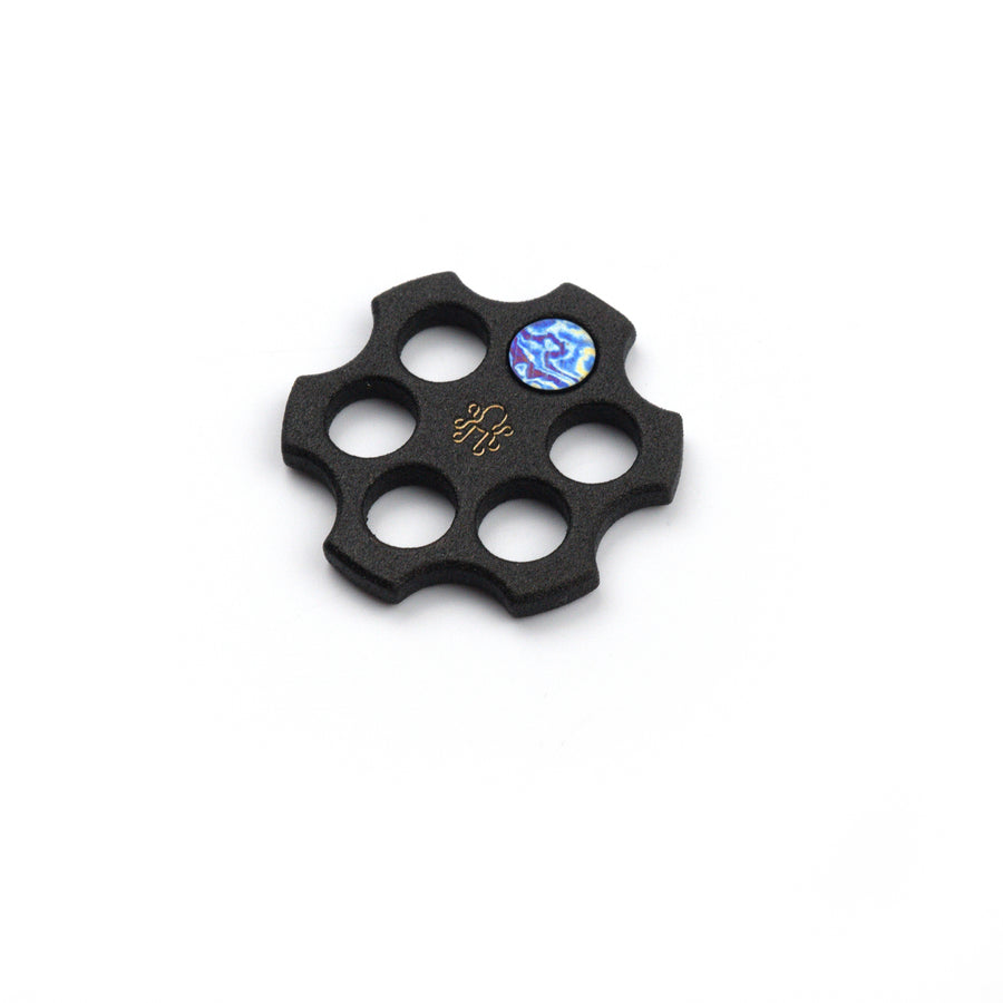 Revolver Barrel Ball Marker - Black Steel with Timascus Inlay