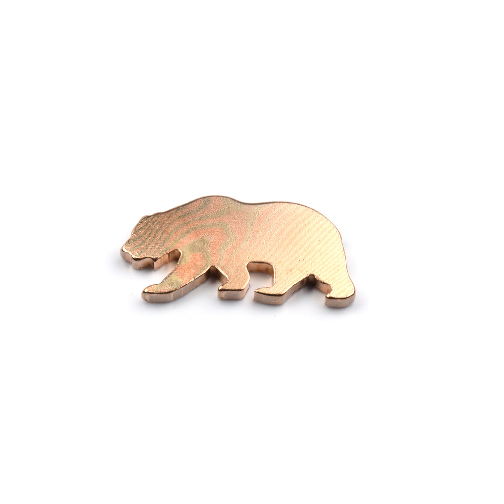 California Bear Ball Marker - Mokume