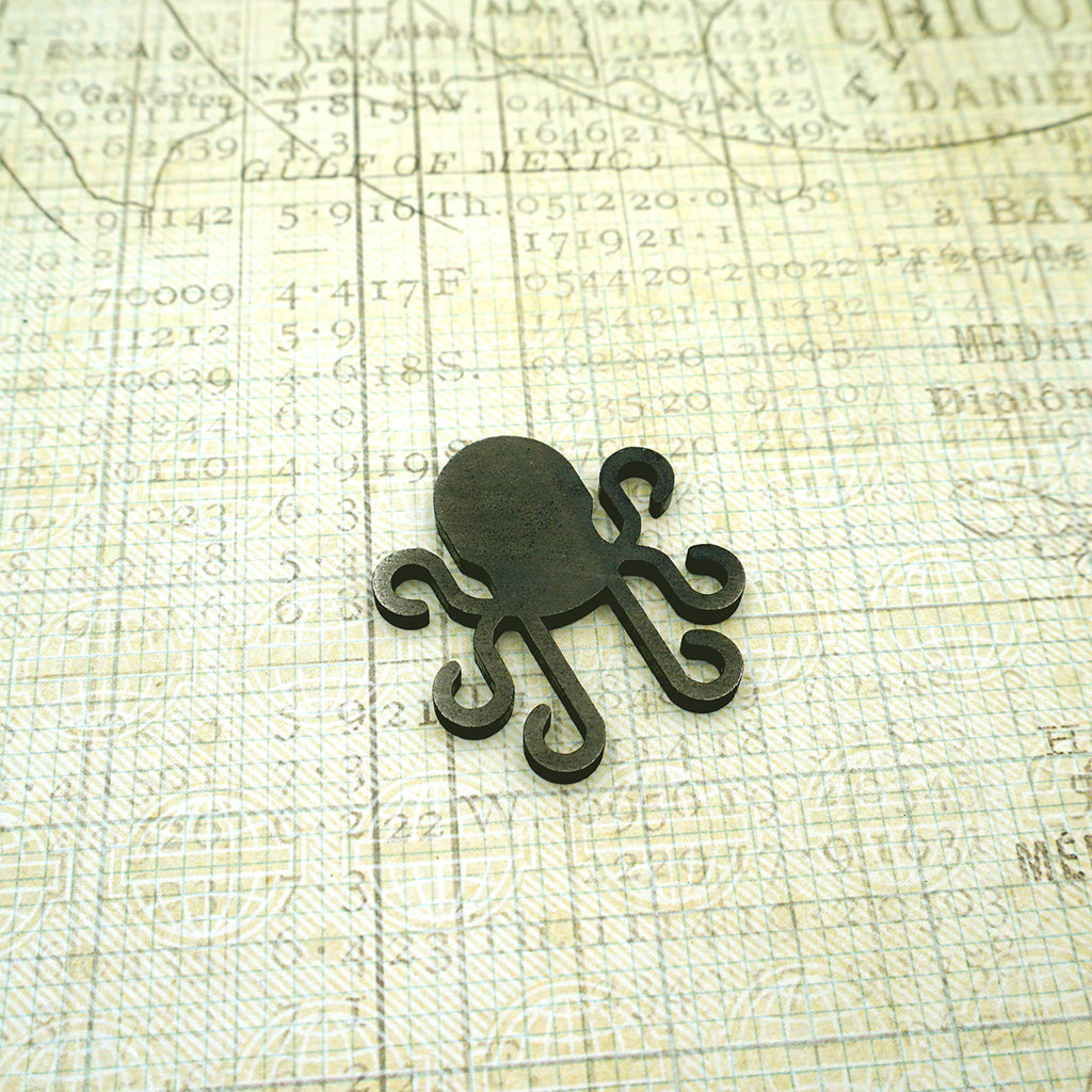 Kraken Ball Marker - Black Ink Distressed