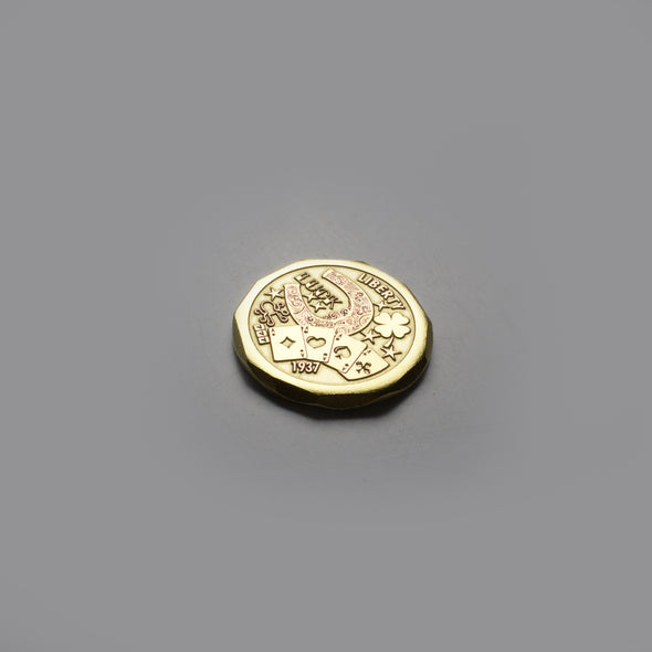 Hobo Luck Ball Marker - Brass - front
