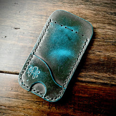 Hogan Leather Holder - Blue BUttero