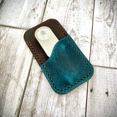 Hogan Leather Tool Holder - Turquoise/Brown