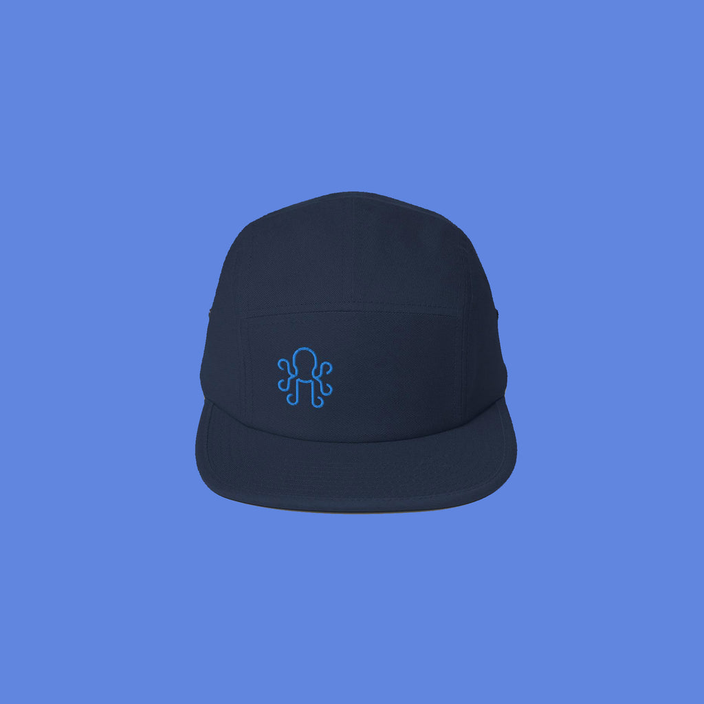 Kraken Simple Five Panel Cap - Navy