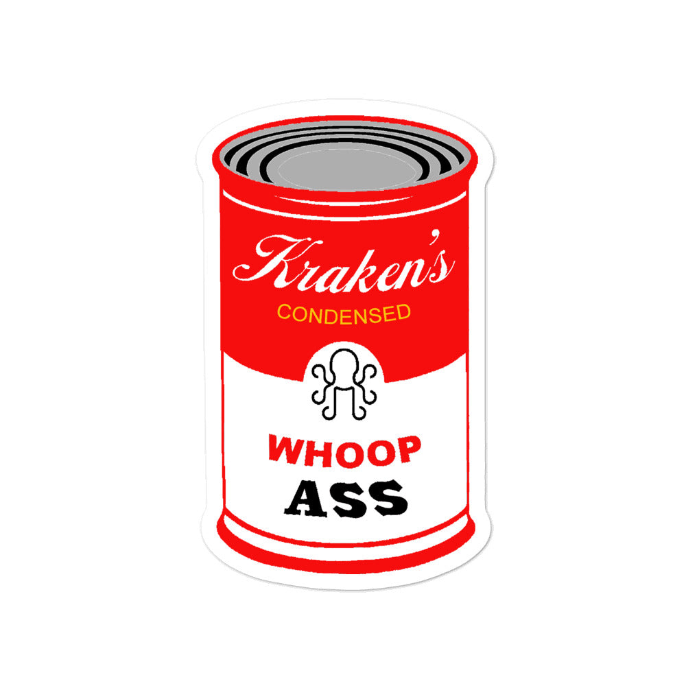 Can of Whoop Ass Sticker