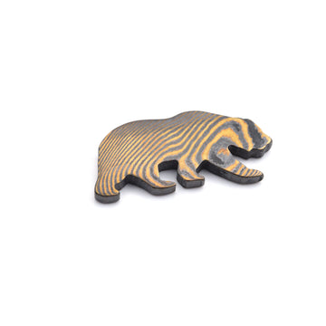 California Bear Ball Marker - Black Mokume