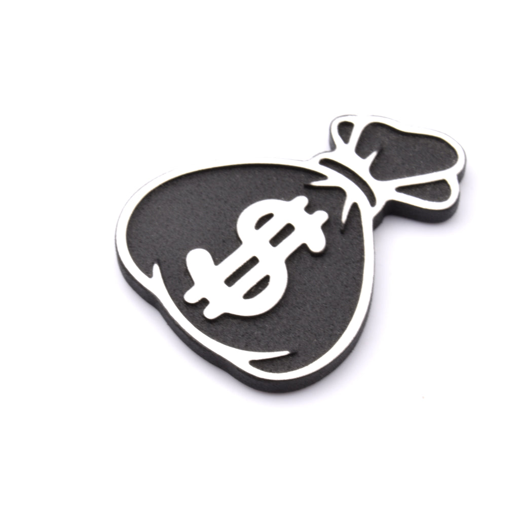 Money Bag Ball Marker - Aluminum / Black Powder
