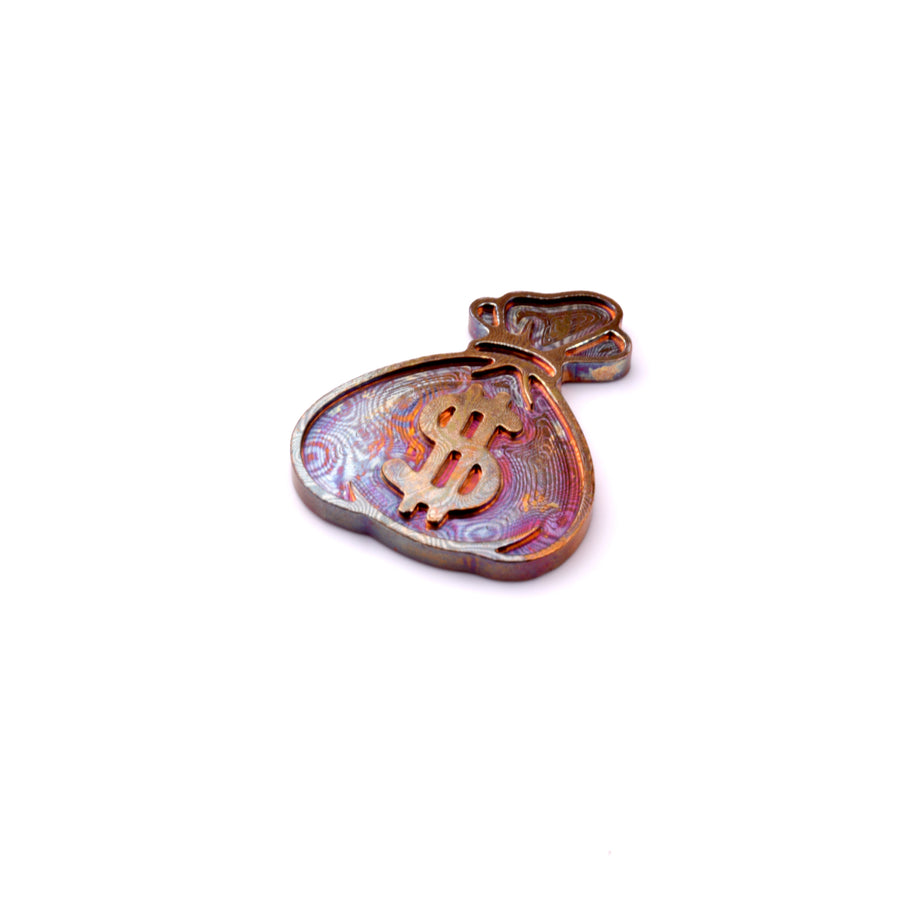 Money Bag Ball Marker - Mokume