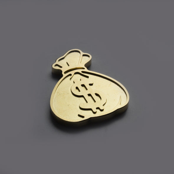 Money Bag Ball Marker - Brass