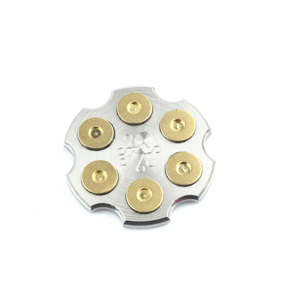 Revolver Barrel Ball Marker - Stainless Steel with Brass Inlays