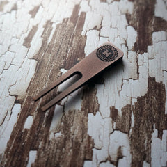 Simple Divot Tool - Copper with Carbon Fiber