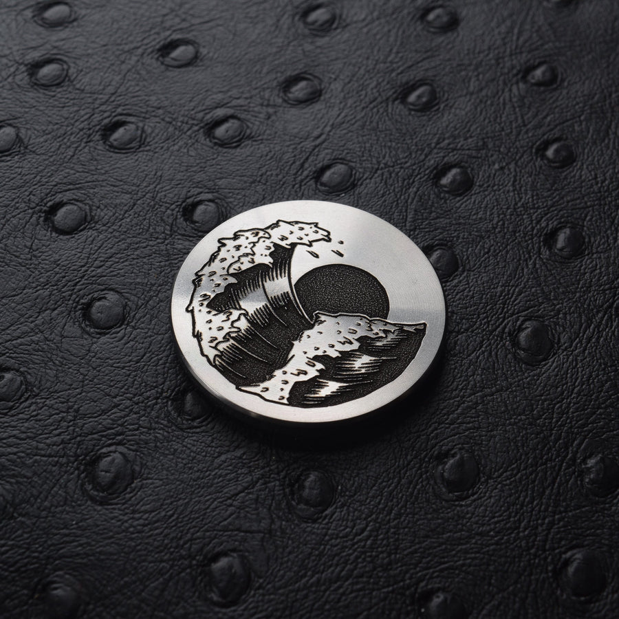 Wave Ball Marker - Stainless Steel
