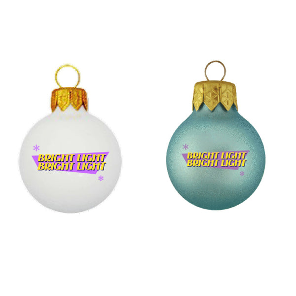BRIGHT LIGHT WHITE & BLUE BAUBLE SET