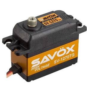 SAVSV1270TG HV Coreless Digital Servo, .11 sec/486.1 oz-in @ 7.4V