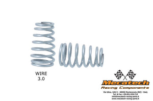MEC2009-08 Cask shaped springs for Mecatech Shocks - Silver 3.0mm