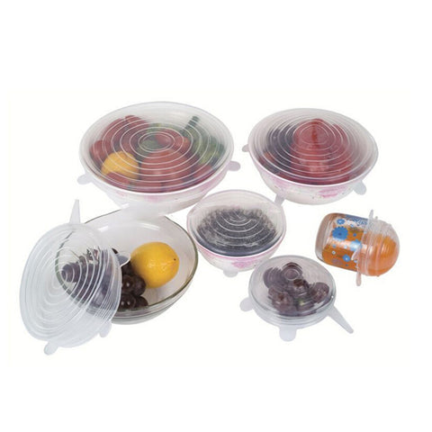 6 PCS/Set - Silicone Stretch Lids!