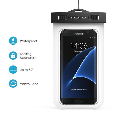 Waterproof Phone Case w/Armband & Neck Strap