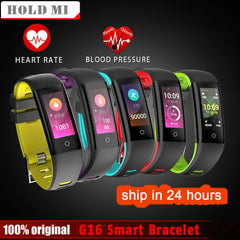 Color Screen Blood Pressure Heart Rate Monitor Smartwatch  Wristband for iOS Android VS MiBand 2