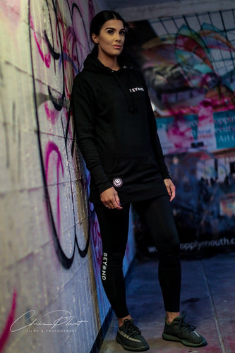 Women's Black Longline Hoodie - beyond-lifestyle