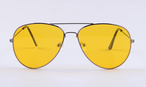 Women yellow lens Sunglasses High quality chic night Sun glasses ss02
