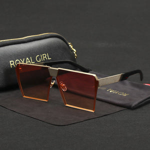 Brand Designer Sunglasses for women Vintage Retro Metal Oversize Sun glasses Oculos included Cases ss620