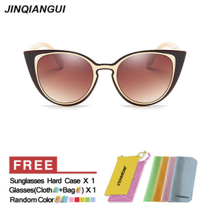 Sunglasses Women Cat Eye Retro Plastic Frame Sun Glasses Be