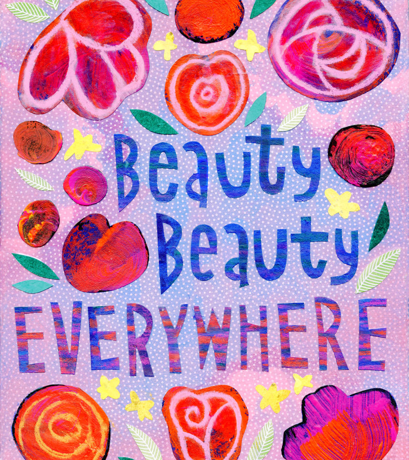 Kate Endle Beauty, Beauty Everywhere hand lettering