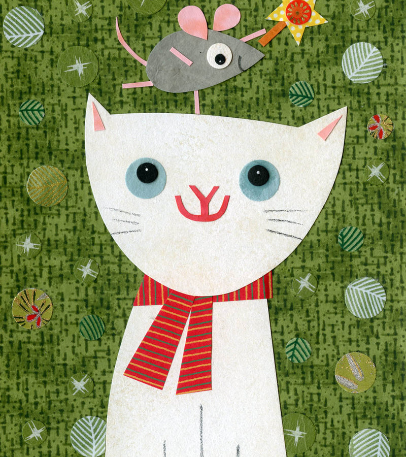 Kate Endle cat holiday art